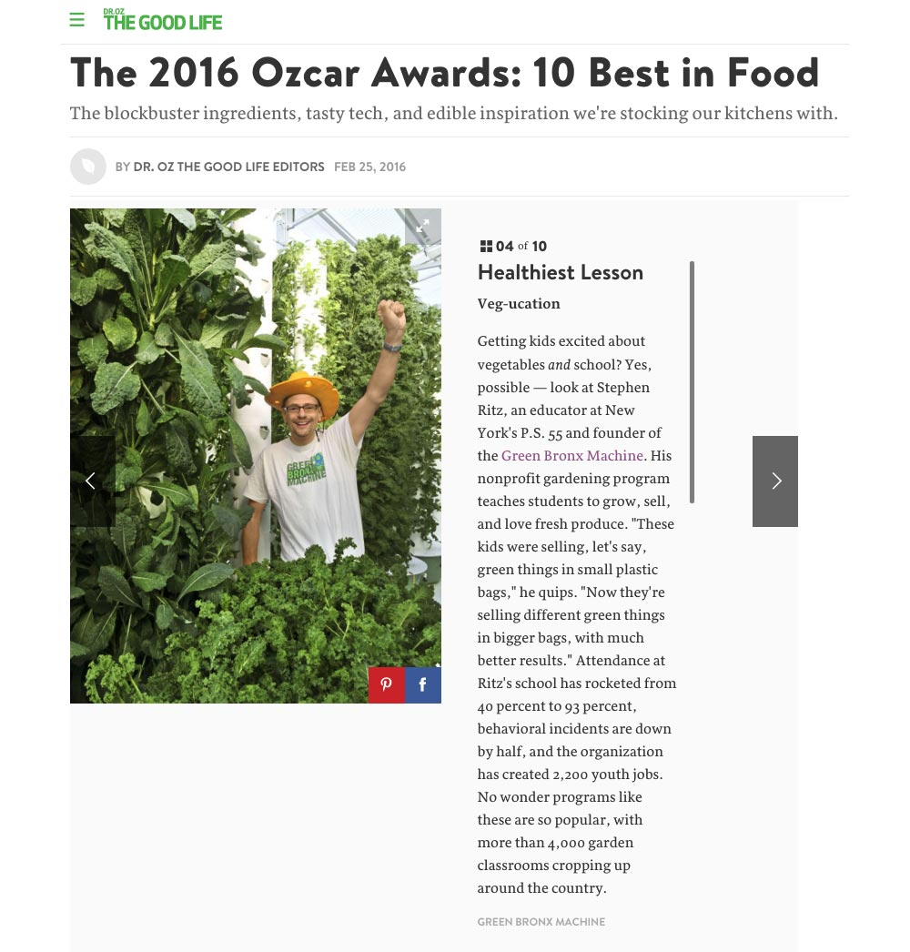 Dr. Oz - The 2016 Ozcar Awards: 10 Best in Food